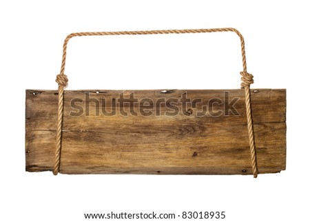 blank signboard - stock photo