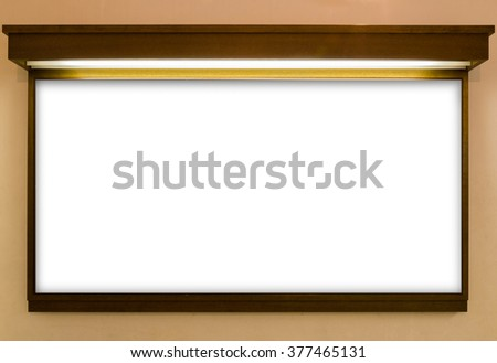 Blank Signboard Template Text On Wooden Stock Photo & Image (Royalty ...