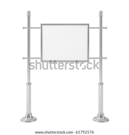 Blank signpost isolated on white - 3d illustration