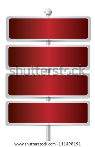 Blank signpost on white background - stock photo