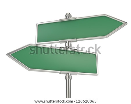 blank signs isolated on white - stock photo