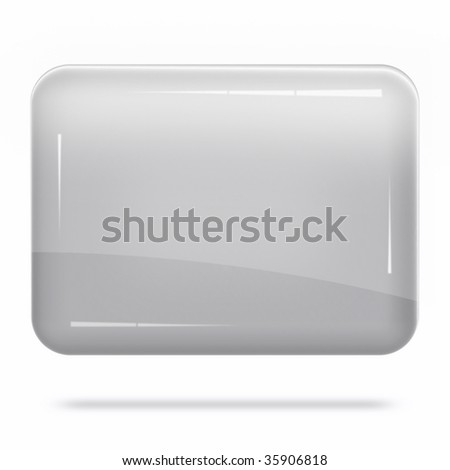 Blank Silver Board Float - stock photo