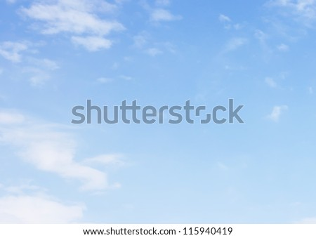 Blank sky surface with small clouds - stock photo
