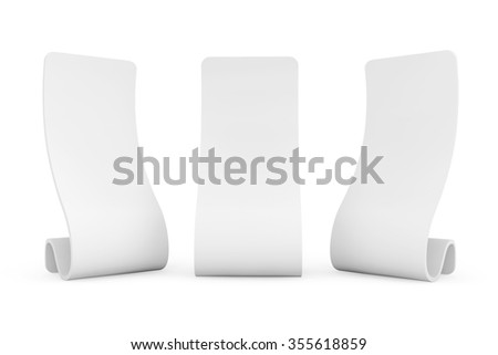 Blank Snake Promotion Stands on a white background - stock photo