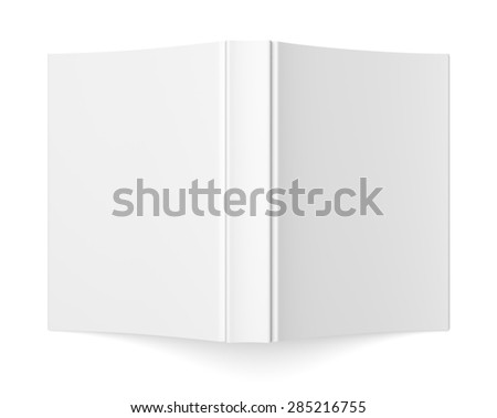 Blank soft cover book template isolated on white background - stock photo