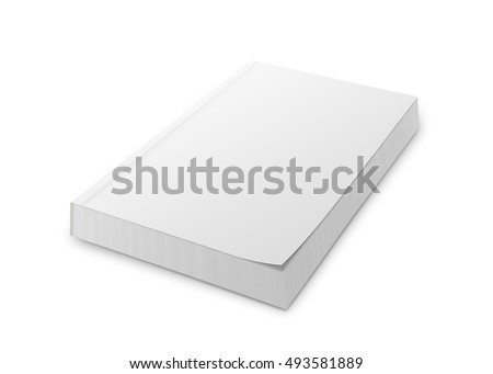 Blank softcover book isolated on white background