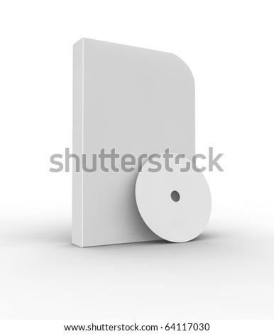 Blank software box and cd isolated on white. - stock photo