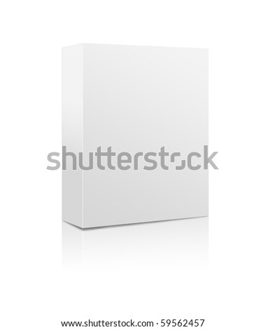 Blank software box isolated on a white background - stock photo