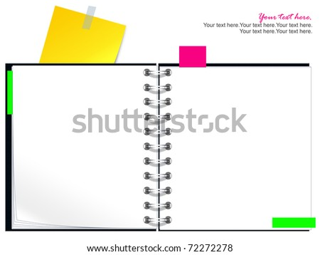 blank Spiral book - stock photo