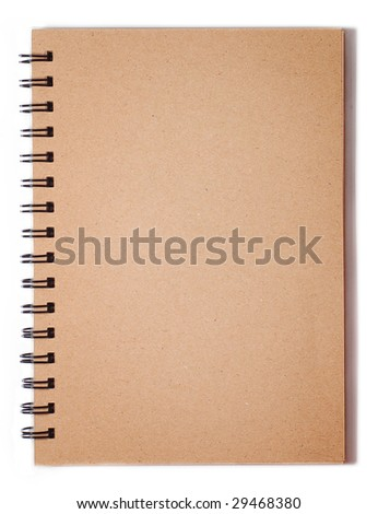 Blank Spiral Note on White - stock photo