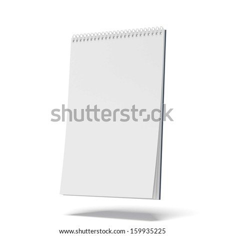 blank spiral notepad - stock photo