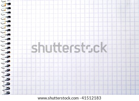 Blank spiral notepad (background, texture, decoration)