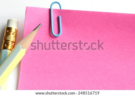 blank spiral paper and pencil  - stock photo