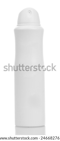 Blank spray deodorant isolated on white background - stock photo