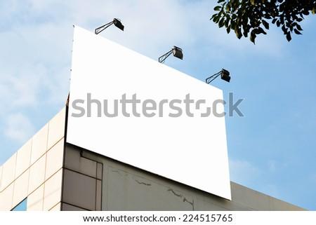 blank square advertising billboard - stock photo