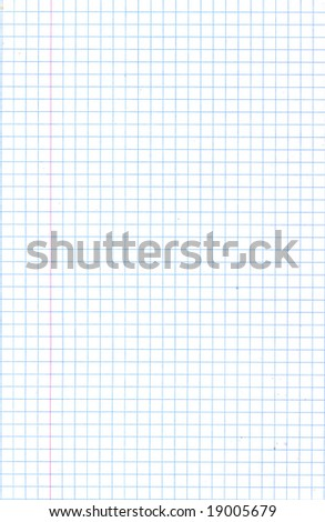 Blank squared notebook sheet - stock photo