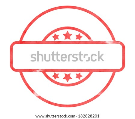Blank Stamp - stock photo