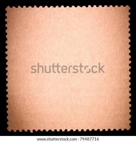 Blank stamp, black borde - stock photo