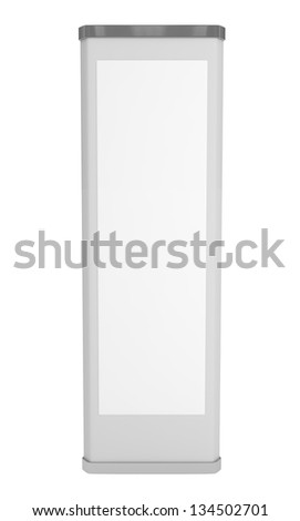 Blank Stand isolated on white - 3d illustration - stock photo