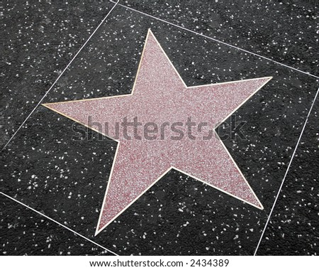 Blank star like those used in Hollywood's Walk of Fame on Hollywood boulevard - stock photo