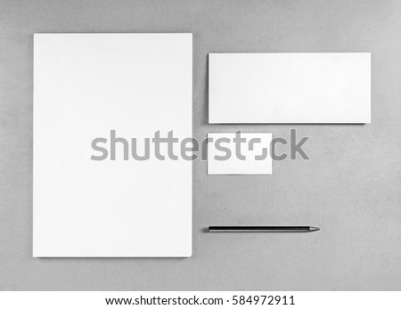 blank stationery template placing your design stock photo royalty