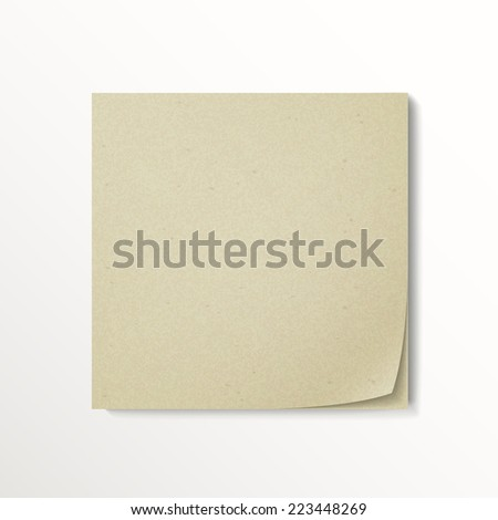 blank stick note paper isolated on white background - stock photo