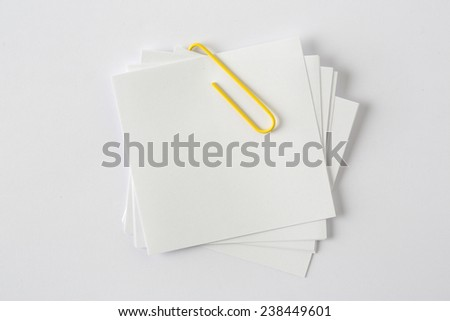 Blank Sticky Note - stock photo