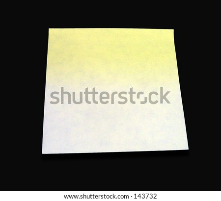 Blank Sticky Note With Black Background