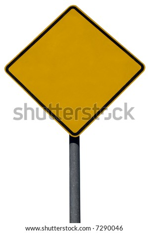 blank street sign isolated against a white background