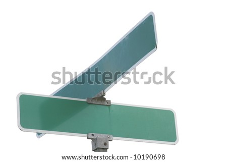 Blank street sign ready for your ideas - stock photo