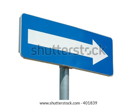 blank street sign to feel with your words (isolated) - stock photo