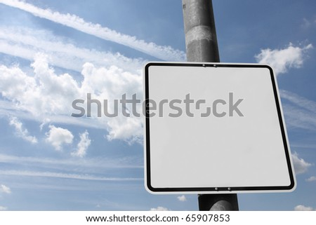 Blank street sign to fill up with own signs - stock photo