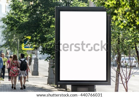 Blank surface for advertising or text located on a city street.