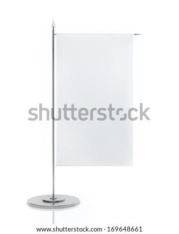 Blank Table Flag Isolated on White Background - stock photo
