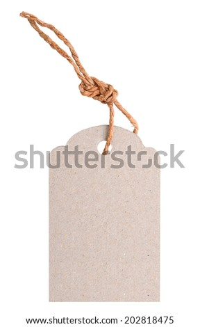 Blank tag against a white background - stock photo