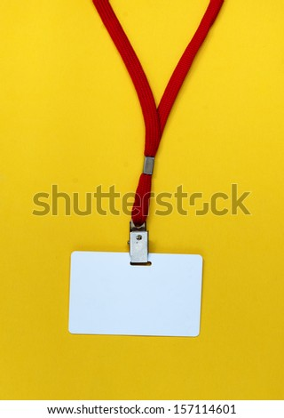 Blank tag isolated on a yellow background - stock photo