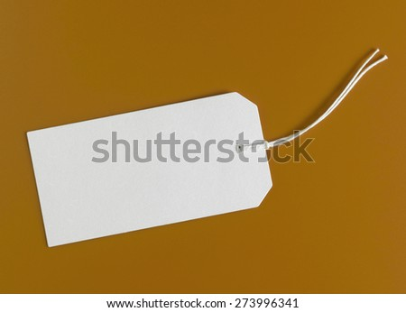 Blank tag isolated on background