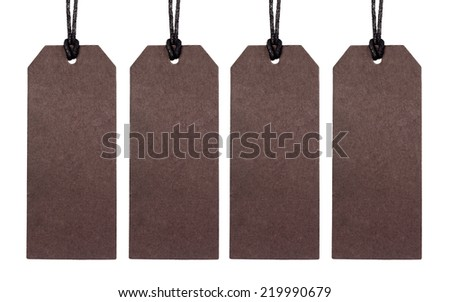 blank tag on isolated background