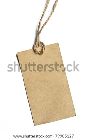 blank tag on white - stock photo