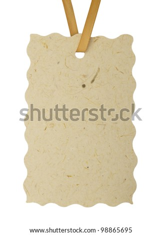 blank tag or label - stock photo