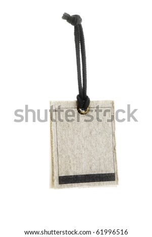 Blank tag tied - stock photo
