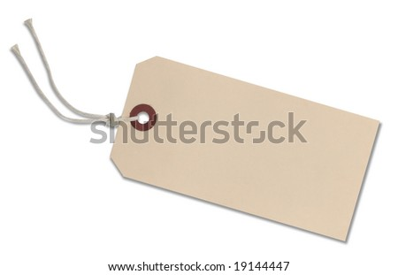 Blank Tag with clipping path