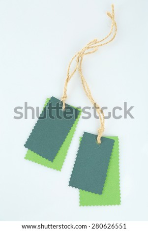 Blank tags isolated on white - stock photo