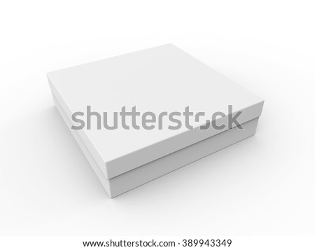 Blank thin box, isolated on a white background - stock photo