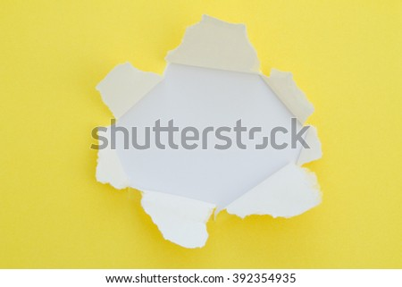 Blank torn paper with copy-space. - stock photo