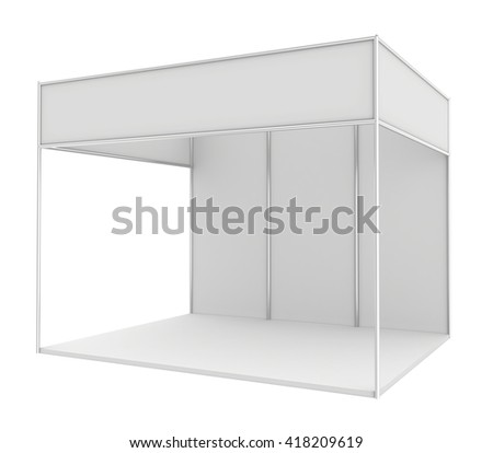 Blank trade exhibition stand - stock photo