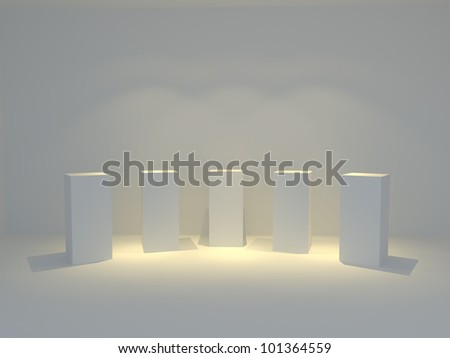 blank trade show booth 3 - stock photo