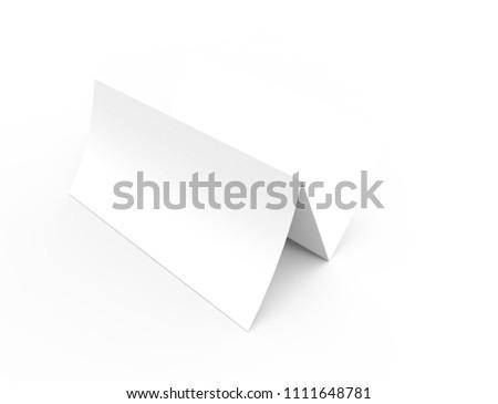 Blank Trifold Paper Leaflet Mock Template Stock Illustration