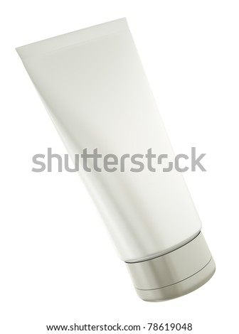 Blank tube isolated on white background. 3D render. - stock photo