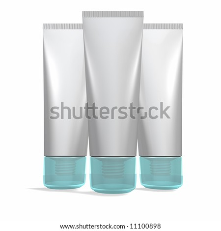 Blank Tubes and Colored Caps - stock photo